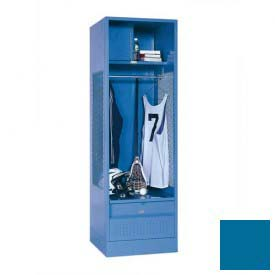 Penco 6WFD33-806 Stadium® Locker With Shelf Security Box & Footlocker 24x24x76 Blue All Welded