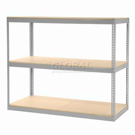 """Record Storage Rack Gray Without Boxes 72""""W x 30""""D x 60""""H"""