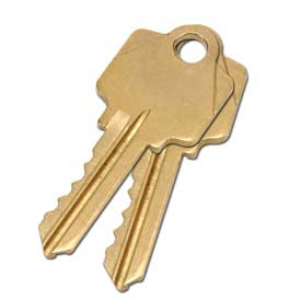 2 Keys For Mortise Lock (Keyed Alike)
