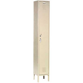 Capital® Locker Single Tier 12x15x72 1 Door Ready To Assemble Tan