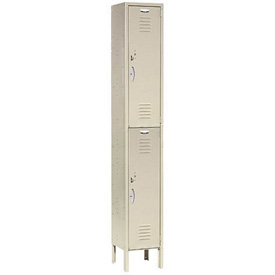 Capital® Locker Double Tier 12x18x36 2 Door Ready To Assemble Tan