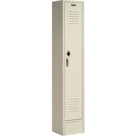 Paramount® Locker Single Tier 12x15x60 1 Door Ready To Assemble Tan