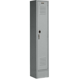 Paramount® Locker Single Tier 12x18x60 1 Door Ready To Assemble Gray