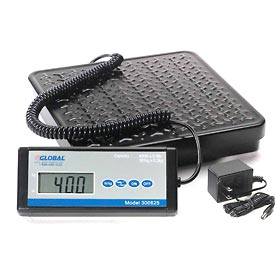 Digital Shipping Scale with AC Adapter 400 Lb x 0.5 Lb