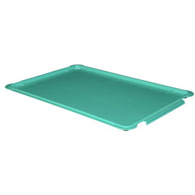 "Molded Fiberglass Stacking Tote 887008 Lid for 870008 Tote - 25-3/4""L x 17-3/4""W, Green"