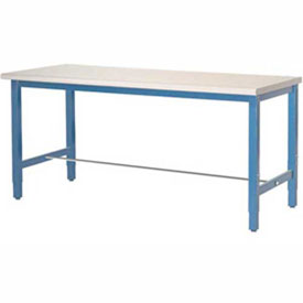 "72""W x 30""D Packaging Workbench - ESD Laminate Square Edge - Blue"