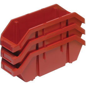 Quantum Quickpick Double Plastic Hopper Bin QP1265 6-5/8 x 12-1/2 x 5 Red - Pkg Qty 20