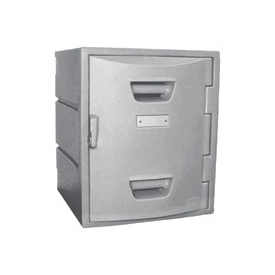 Box Plastic Locker for 4 Tier - Flat Top 15X15X18 Gray