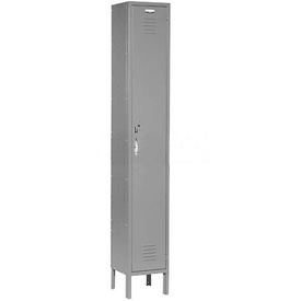 Capital™ Locker Single Tier 12x18x72 1 Door Assembled Gray