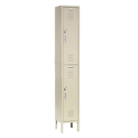 Capital™ Locker Double Tier 12x18x36 2 Door Assembled Tan