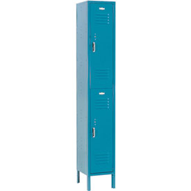 Paramount® Locker Double Tier 12x12x36 2 Door Assembled Blue