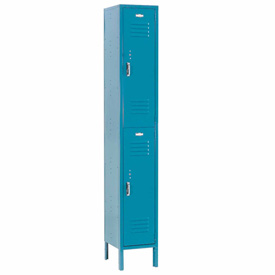 Paramount® Locker Double Tier 12x15x36 2 Door Assembled Blue