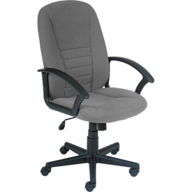 Office Chair - Fabric - High Back - Gray