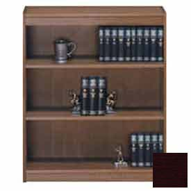"Unassembled 48""H Contemporary Square Edge Bookcase Mahogany"