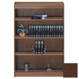 "Unassembled 60""H Contemporary Square Edge Bookcase Medium Oak"