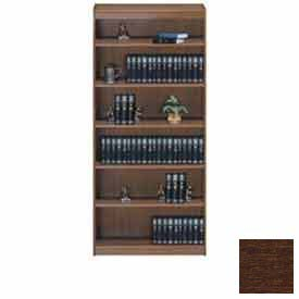 "Unassembled 72""H Contemporary Square Edge Bookcase Walnut"