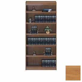 "Unassembled 72""H Contemporary Square Edge Bookcase Light Oak"