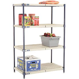 Vented Plastic Shelving 36x18x54 Nexelon Finish