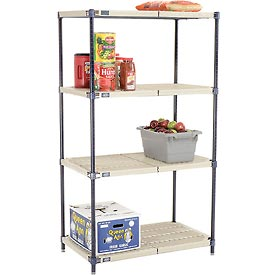 Vented Plastic Shelving 36x18x63 Nexelon Finish