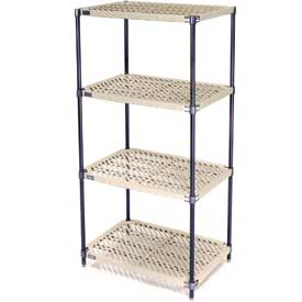 Vented Plastic Shelving 60x18x63 Nexelon Finish