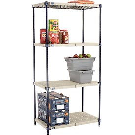 Vented Plastic Shelving 36x18x74 Nexelon Finish