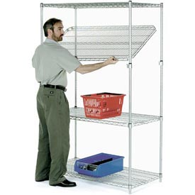 Quick Adjust Wire Shelving 48x14x86