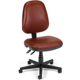 OFM Antimicrobial Office Chair - Vinyl - Mid Back - Burgundy