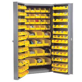 Bin Cabinet Unassemble With 40 Interior & 96 Door Bins