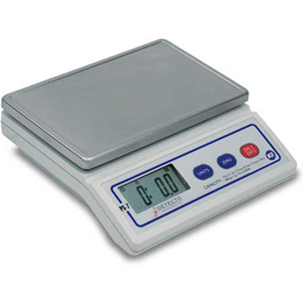 "Detecto PS7 NSF Digital Portion Scale 7lb Multi Capacity, 8"" x 5"" Stainless Steel Platform"