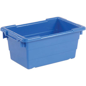 Quantum Cross Stack Nest Tub TUB1711-8 - 17-1/4 x 11 x 8 Blue - Pkg Qty 6
