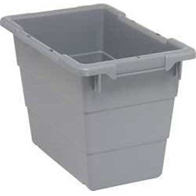Quantum Cross Stack Nest Tub TUB1711-12 - 17-1/4 x 11 x 12 Gray - Pkg Qty 6