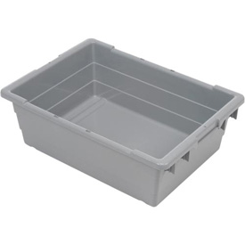 Quantum Cross Stack Nest Tub TUB2417-8 - 23-3/4 x 17-1/4 x 8 Gray - Pkg Qty 6