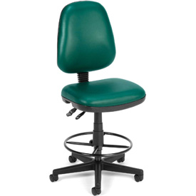 OFM Antimicrobial Stool Without Arms - Vinyl - Green
