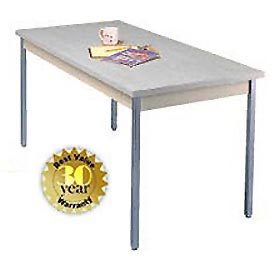 "Utility Table - 20""W X 40""L - Gray with Square Edge"