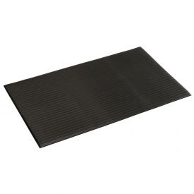 Ribbed Surface Mat Black 3/8 Inch Thick Stock Size 24x36