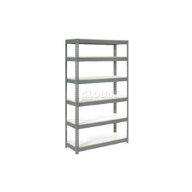"Extra Heavy Duty Shelving 48""W x 12""D x 60""H With 6 Shelves, 1500 lbs. Capacity Per Shelf, Gray"