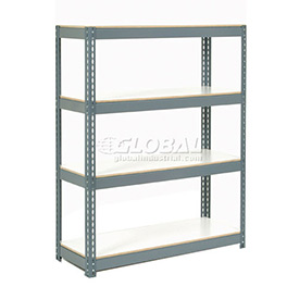 "Extra Heavy Duty Shelving 36""W x 18""D x 84""H With 7 Shelves, 1500 lbs. Capacity Per Shelf, Gray"