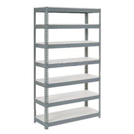 "Extra Heavy Duty Shelving 48""W x 12""D x 84""H With 7 Shelves, 1500 lbs. Capacity Per Shelf, Gray"