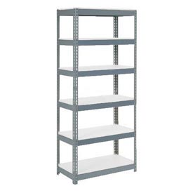 "Extra Heavy Duty Shelving 36""W x 18""D x 96""H With 6 Shelves, 1500 lbs. Capacity Per Shelf, Gray"