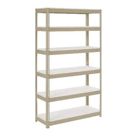 "Extra Heavy Duty Shelving 48""W x 12""D x 84""H With 6 Shelves, 1500 lbs. Capacity Per Shelf, Tan"