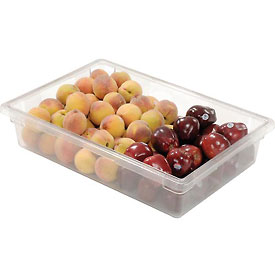 Rubbermaid 3308-00 Clear Plastic Box 8 1/2 Gallon 18 x 26 x 6 - Pkg Qty 6