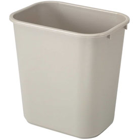 7 Gallon Rubbermaid Plastic Wastebasket - Beige