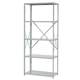 "Penco Steel Shelving 20 Ga 48""WX24""DX87""H Open Clip Style 5 Shelf Starter"