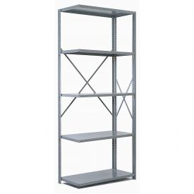 "Penco Steel Shelving 20 Ga 48""WX12""DX87""H Open Clip Style 5 Shelf Add-On"