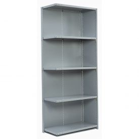 "Penco Steel Shelving 20 Ga 36""WX18""DX87""H Closed Clip Style 5 Shelf Add-On"
