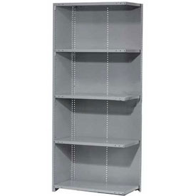 "Penco Steel Shelving 20 Ga 36""WX24""DX87""H Closed Clip Style 5 Shelf Add-On"