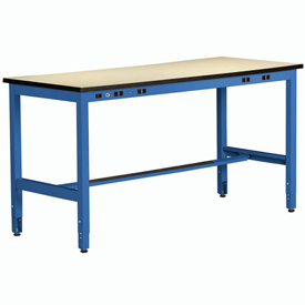 Non Conductive Electronic Workbench 30inch High 96x36 Blue