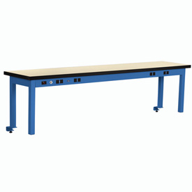 Riser With Power Center Plastic Top 72inch Long Blue