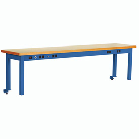 Riser With Power Center ESD Top 96inch Long Blue