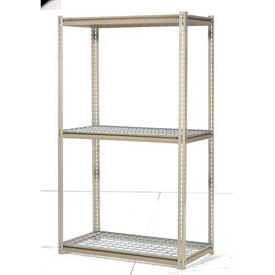 "High Capacity Starter Rack 96""W x 24""D x 84""H With 3 Levels Wire Deck 800lb Cap Per Shelf"